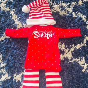 Newborn Christmas pajamas